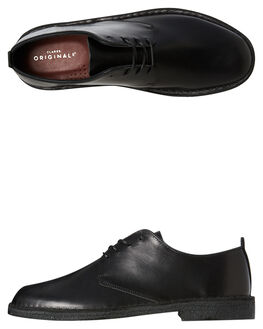 BLACK LEATHER MENS FOOTWEAR CLARKS ORIGINALS FASHION SHOES - SSDESERTLONDONBLTRM