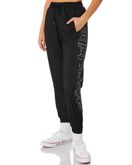 BLACK WOMENS CLOTHING STUSSY PANTS - ST181615BLK