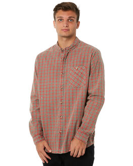 BAD SEED RED MENS CLOTHING ROLLAS SHIRTS - 152043405