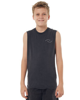 BLACK KIDS BOYS RIP CURL SINGLETS - KTEGS20090