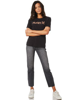 BLACK CORAL FADE WOMENS CLOTHING HURLEY TEES - AH3358012