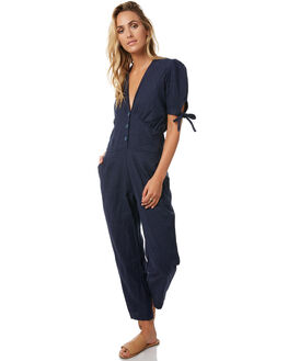 SOLID NAVY WOMENS CLOTHING RUE STIIC PLAYSUITS + OVERALLS - S118-98NVY
