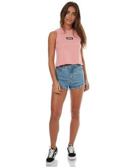 PINK WOMENS CLOTHING STUSSY SINGLETS - ST173037PNK