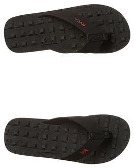 BLACK MENS FOOTWEAR RVCA THONGS - R174601BLK