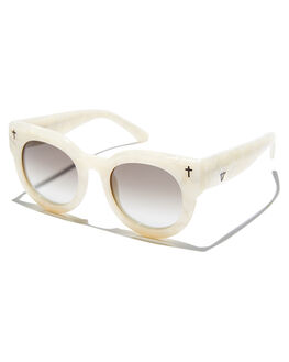 PEARL WHITE BLACK WOMENS ACCESSORIES VALLEY SUNGLASSES - S0188PWBGD