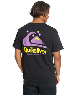 BLACK MENS CLOTHING QUIKSILVER TEES - EQYZT05736-KVJ0