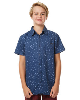 NAVY BLUE KIDS BOYS RUSTY SHIRTS - WSB0546NVB