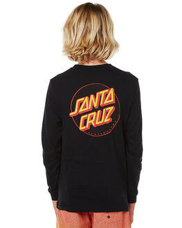 BLACK KIDS BOYS SANTA CRUZ TEES - SC-YLNC008BLK