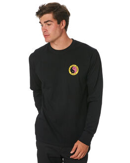 BLACK MENS CLOTHING TOWN AND COUNTRY TEES - TTE313BLK