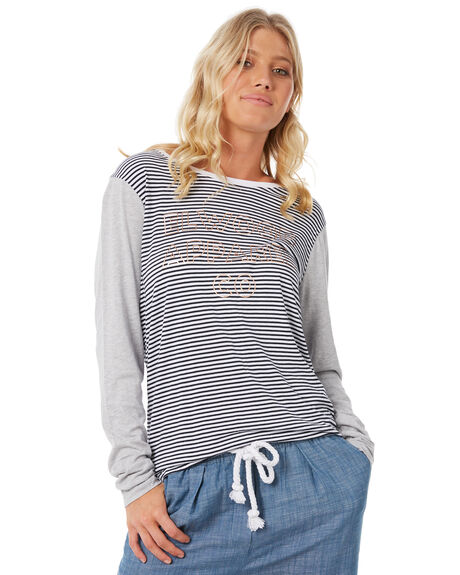 NAVY STRIPE WOMENS CLOTHING ELWOOD TEES - W83111-JF6