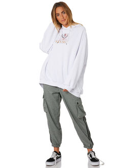 WHITE WOMENS CLOTHING STUSSY JUMPERS - ST196319WHI