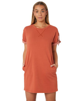 BURNT BRICK WOMENS CLOTHING RUSTY DRESSES - DRL0966URN