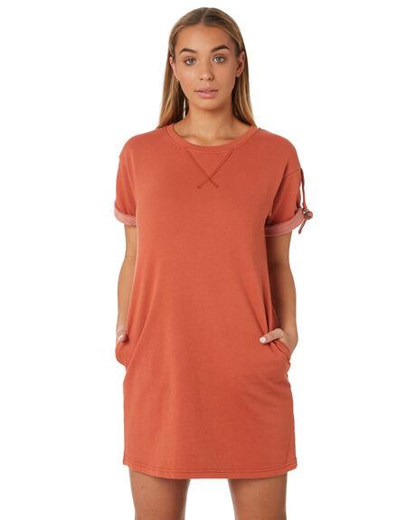 BURNT BRICK WOMENS CLOTHING RUSTY DRESSES - DRL0966URN