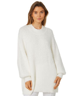 WHITE WOMENS CLOTHING ZULU AND ZEPHYR KNITS + CARDIGANS - ZZ2428WHT