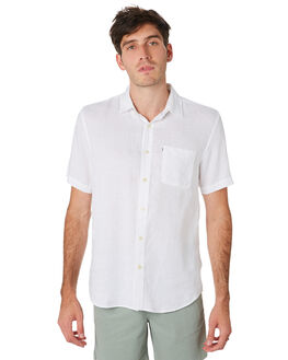WHITE MENS CLOTHING ACADEMY BRAND SHIRTS - BA880WHT