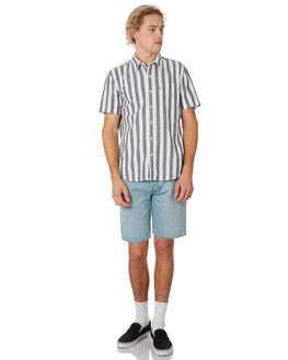 BLUE STRIPE MENS CLOTHING LEVI'S SHIRTS - 21977-0083BLUST