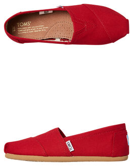 RED WOMENS FOOTWEAR TOMS SLIP ONS - 001001B07-RED