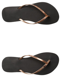 BLACK 2 WOMENS FOOTWEAR RUSTY THONGS - FOL0360BK2