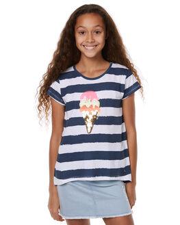 NAVY WHITE KIDS GIRLS EVES SISTER TEES - 9900026NVYWT