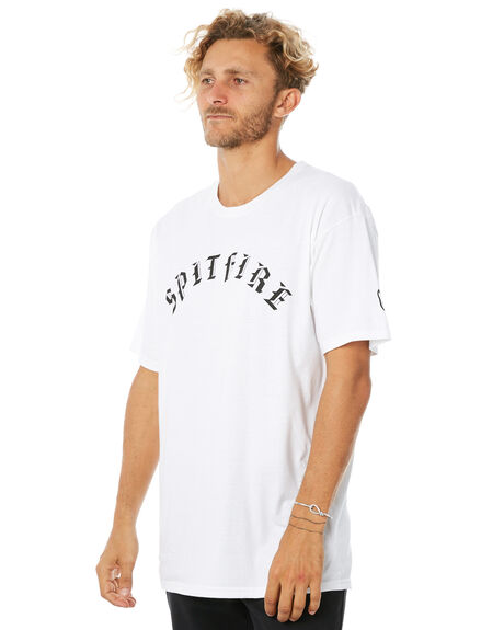 WHITE MENS CLOTHING SPITFIRE TEES - OLDETEEWHT