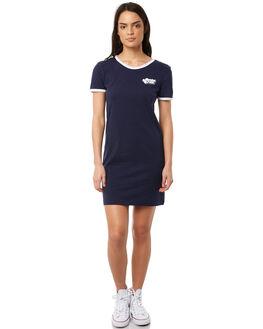 FRENCH NAVY WOMENS CLOTHING SANTA CRUZ DRESSES - SC-WDA8573FNVY