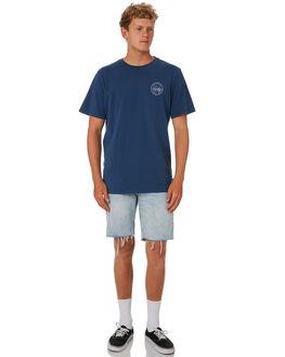 NAVY BLUE MENS CLOTHING DEPACTUS TEES - D5193009NAVY