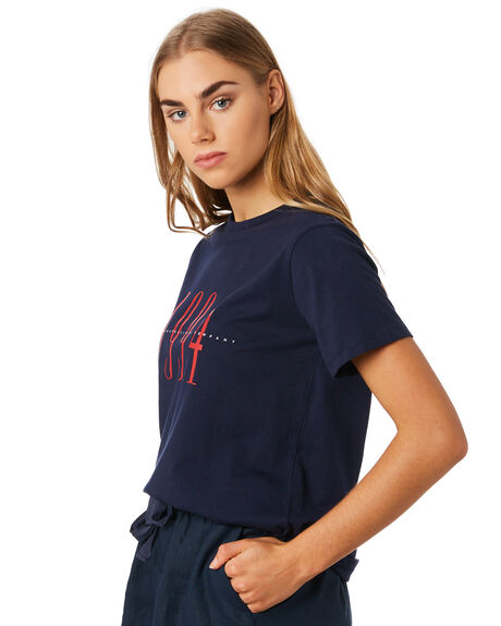 NAVY WOMENS CLOTHING RPM TEES - 9PWT01C6NVY