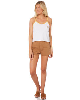 DARK TAN WOMENS CLOTHING AFENDS SHORTS - W184302DTAN