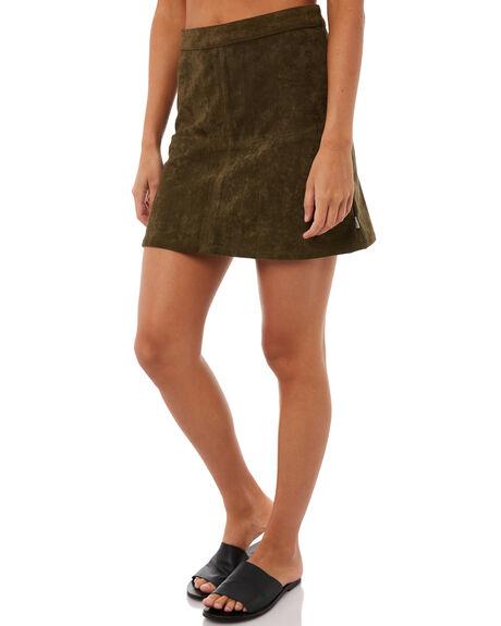 OLIVE WOMENS CLOTHING RHYTHM SKIRTS - SKT00W-SK01OLI