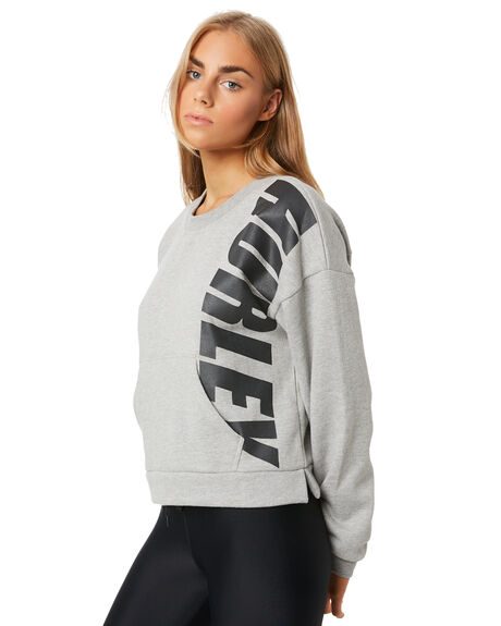GREY HEATHER WOMENS CLOTHING HURLEY JUMPERS - CJ8737050