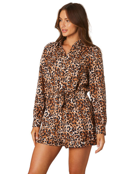 LEOPARD OUTLET WOMENS TIGERLILY PLAYSUITS + OVERALLS - T305447LEO