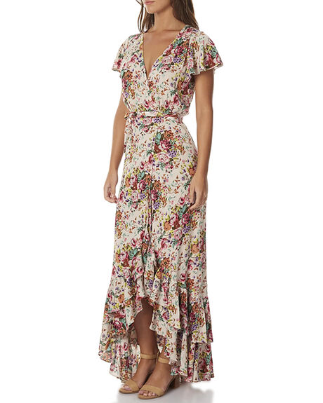 LONGBEACH FLRL NAT WOMENS CLOTHING AUGUSTE DRESSES - AUG-SM2-16647LBHNA