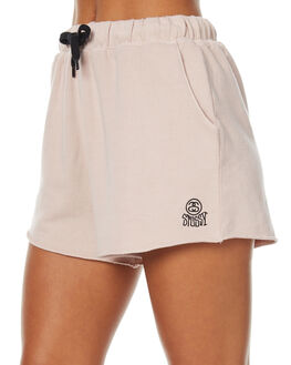 DUSTY PINK WOMENS CLOTHING STUSSY SHORTS - ST171604DUSP