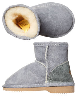 GREY KIDS TODDLER BOYS UGG AUSTRALIA FOOTWEAR - CHMINTGRY