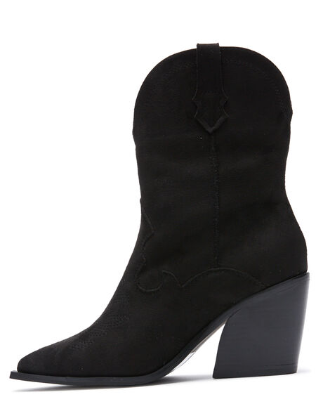 BLACK OUTLET WOMENS THERAPY BOOTS - 10524BLK