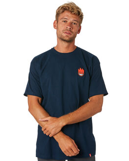 NAVY RED MENS CLOTHING SPITFIRE TEES - 51010388NNVYRD