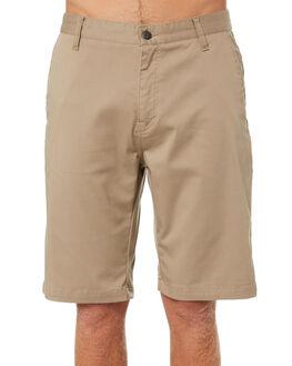 KHAKI MENS CLOTHING VOLCOM SHORTS - A09117V3KHA