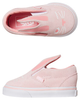 CHALK PINK WHITE KIDS TODDLER GIRLS VANS FOOTWEAR - VNA3MTZQ1CPNKWH