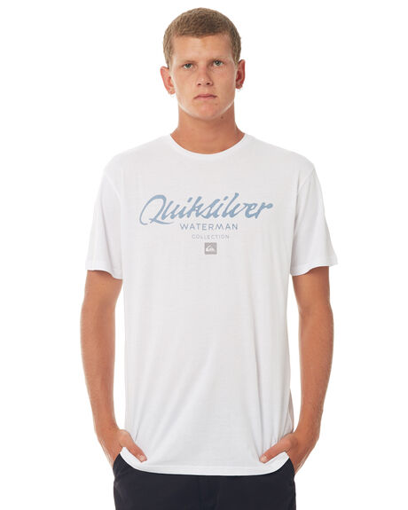 WHITE MENS CLOTHING QUIKSILVER TEES - EQMZT03063WBB0