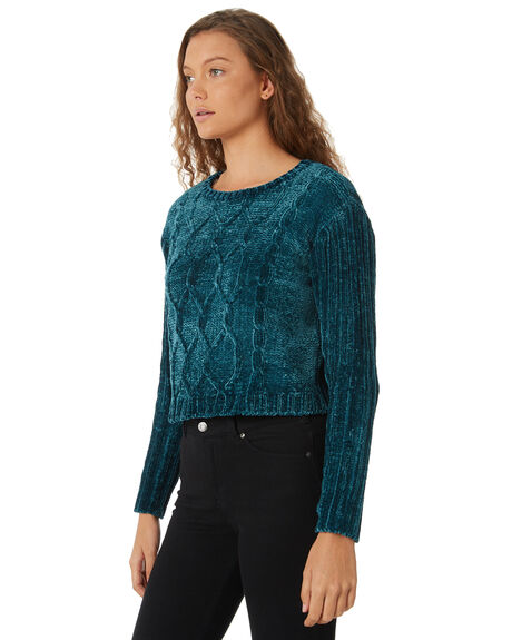TEAL WOMENS CLOTHING ALL ABOUT EVE KNITS + CARDIGANS - 6413051TEAL