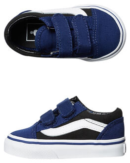 BLUE DEPTHS BLACK KIDS TODDLER BOYS VANS FOOTWEAR - VNA344KORDBLU