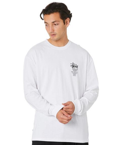WHITE MENS CLOTHING STUSSY TEES - ST006015WHT