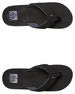 BLACK MENS FOOTWEAR REEF THONGS - A3YKZBLA