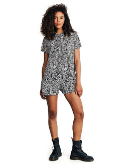 BLACK ACID TRIBE WOMENS CLOTHING QUIKSILVER PLAYSUITS + OVERALLS - EQWWT03003-KVJ6