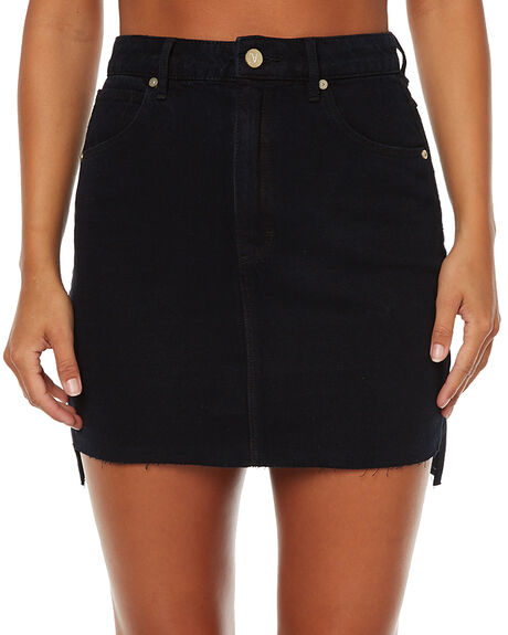BEVERLY BLACK WOMENS CLOTHING A.BRAND SKIRTS - 707652640