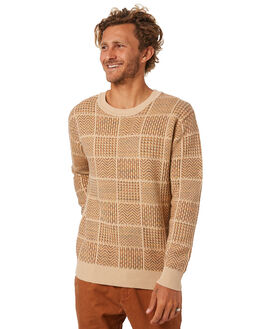 ALMOND MENS CLOTHING THE CRITICAL SLIDE SOCIETY KNITS + CARDIGANS - KT1820ALMND