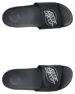 BLACK MENS FOOTWEAR SANTA CRUZ SLIDES - SC-MAC9308BLK
