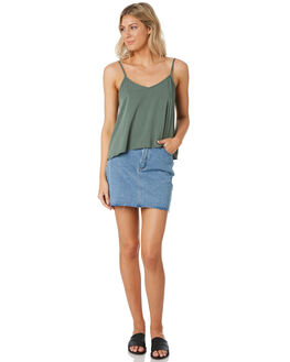 KHAKI WOMENS CLOTHING ALL ABOUT EVE FASHION TOPS - 6446072KHAK