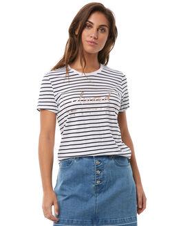 NAVY STRIPE WOMENS CLOTHING ELWOOD TEES - W82105JF6