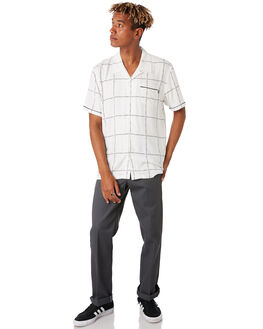 WHITE MENS CLOTHING HUF SHIRTS - BU00055-WHITE